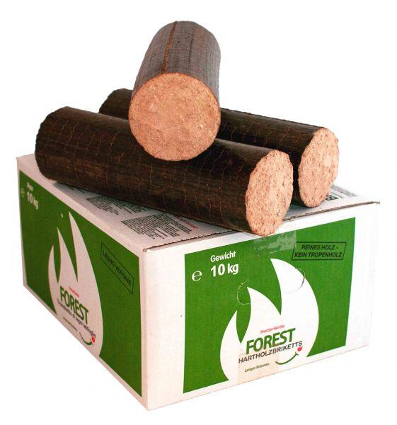 Holzbriketts Buche/Eiche 80mm rund im Karton